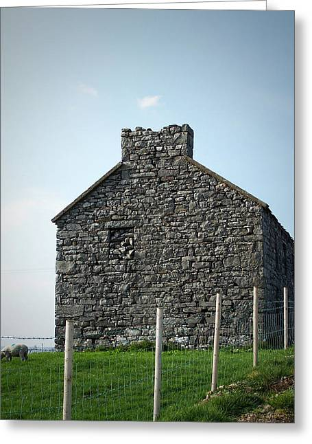 Stone House Greeting Cards - Stone Building Maam Ireland Greeting Card by Teresa Mucha