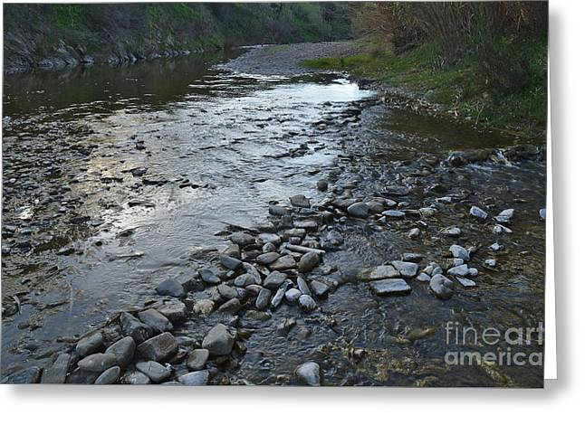 Tavira Greeting Cards - Stone Crossing Greeting Card by Angelo DeVal
