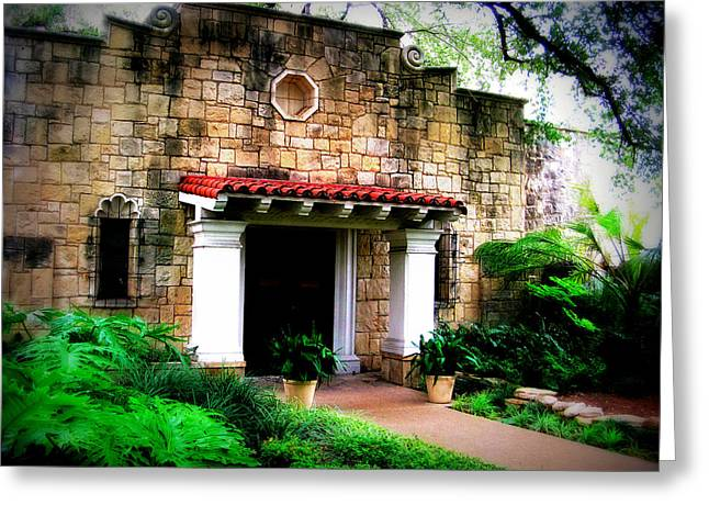 Entryway Greeting Cards - Stone Entry Greeting Card by Perry Webster
