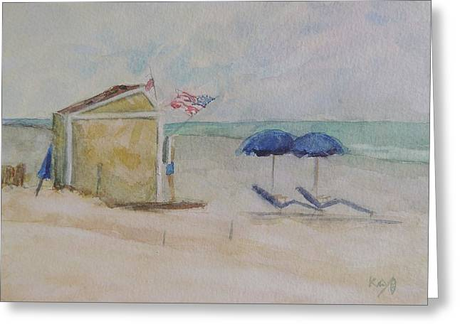 Jersey Shore Paintings Greeting Cards - Stone Harbor New Jersey Snack Shack Greeting Card by Patty Kay Hall