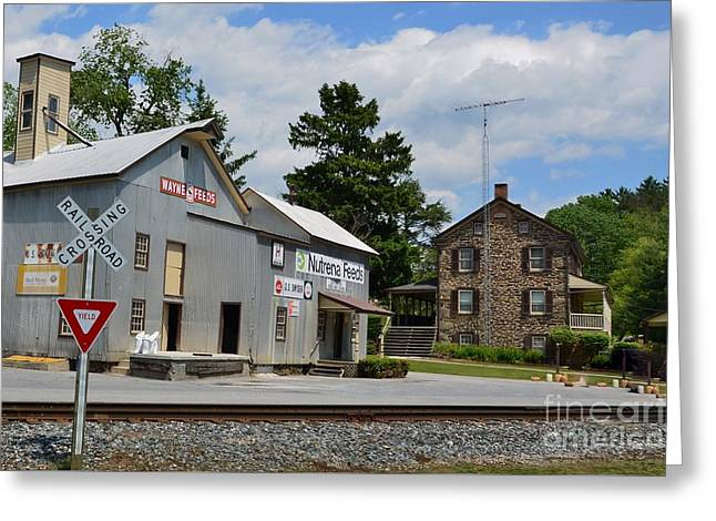 Stone House And Old Feed Mill Greeting Card by Bob Sample