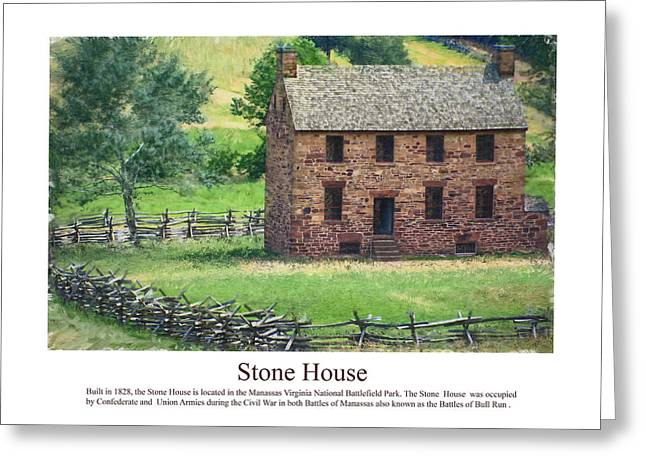 Recently Sold -  - Civil Greeting Cards - Stone House Greeting Card by Don Lovett