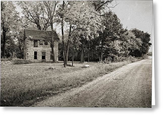 Stone House Photographs Greeting Cards - Stone House Road Greeting Card by Eric Benjamin