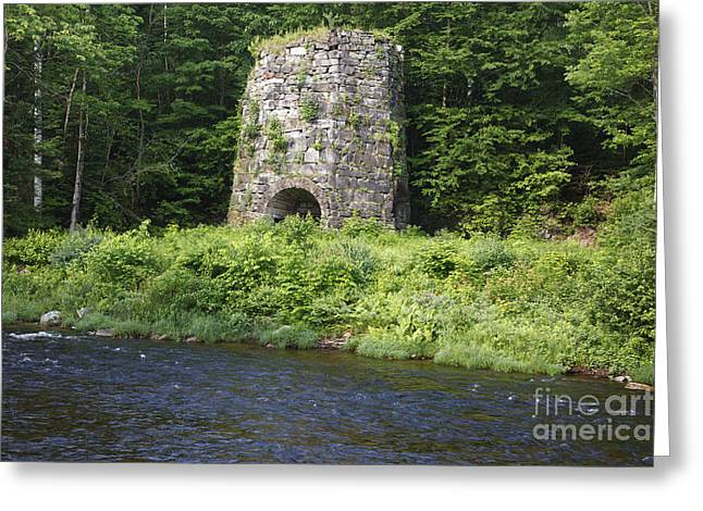 New England Village Greeting Cards - Stone Iron Furnace - Franconia New Hampshire USA Greeting Card by Erin Paul Donovan