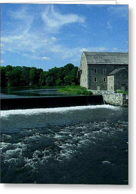 Raritan Greeting Cards - Stone Mill - Clinton New Jersey Greeting Card by Val Arie