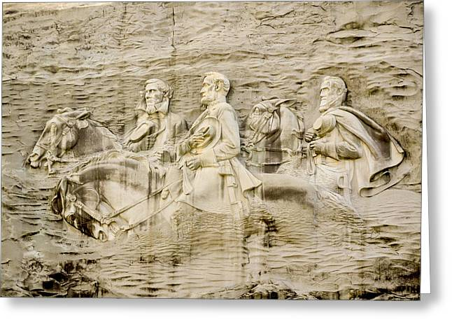 The General Lee Greeting Cards - Stone Mountain Carving 2 Greeting Card by Rebecca Stowers