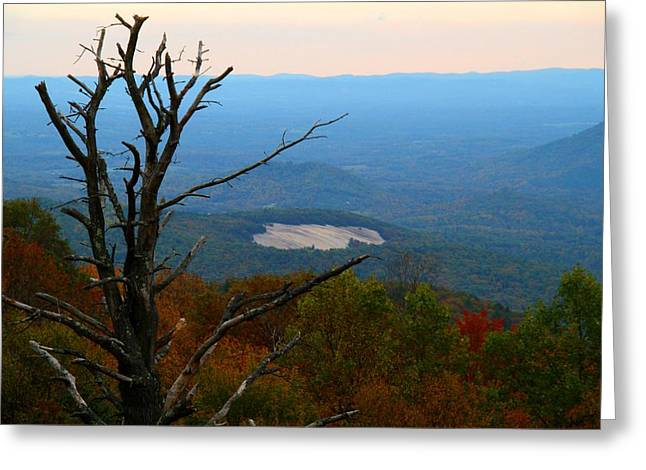 Fall Colors Greeting Cards - Stone Mountain Overlook Greeting Card by Kathryn Meyer