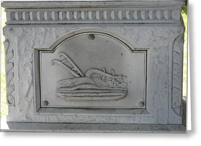 Brimfield Greeting Cards - Stone Plow Memorial Greeting Card by M E Cieplinski