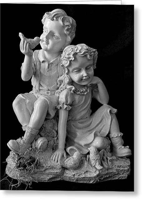 Christopher Holmes Greeting Cards - Stone Siblings Greeting Card by Christopher Holmes