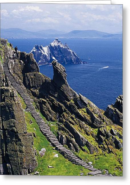 Recently Sold -  - Stones Greeting Cards - Stone Stairway, Skellig Michael Greeting Card by Gareth McCormack