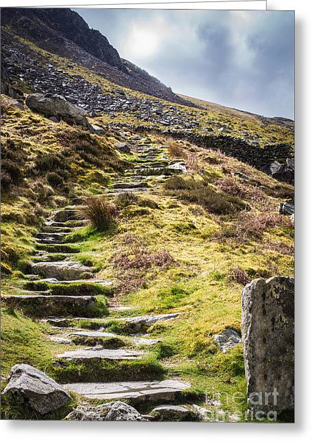 Stones Photographs Greeting Cards - Stone Steps Greeting Card by Amanda And Christopher Elwell
