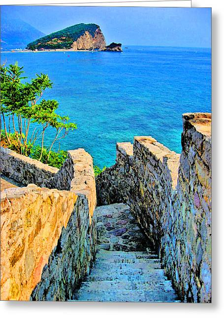 Cristoforo Greeting Cards - Stone steps. Greeting Card by Andy Za