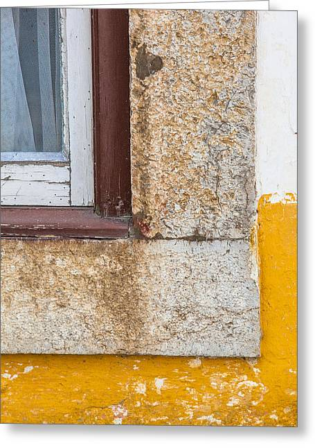 Kitchen Photos Paintings Greeting Cards - Stone Window of Portugal Greeting Card by David Letts