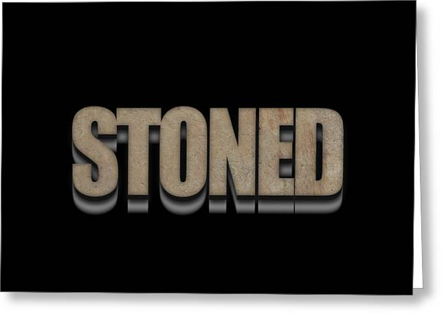 Stoned Tee Greeting Card by Edward Fielding