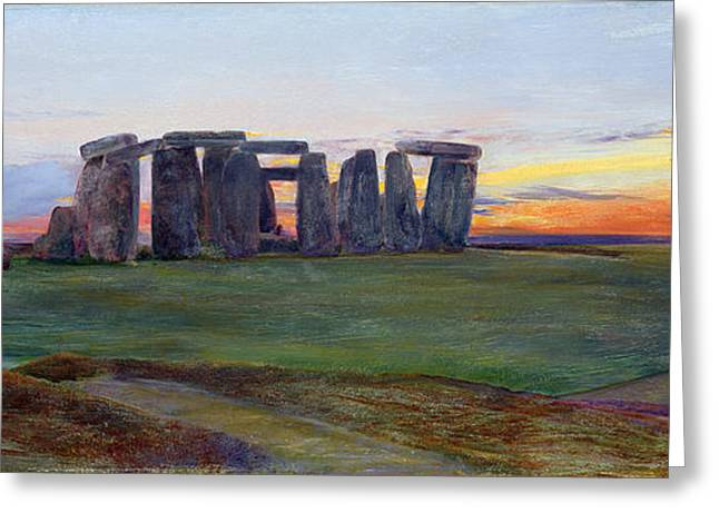 Williams Greeting Cards - Stonehenge Greeting Card by John William Inchbold