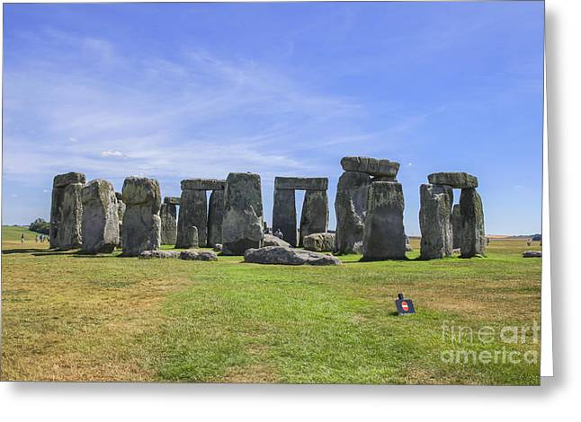 Monolith Greeting Cards - Stonehenge Greeting Card by Patricia Hofmeester