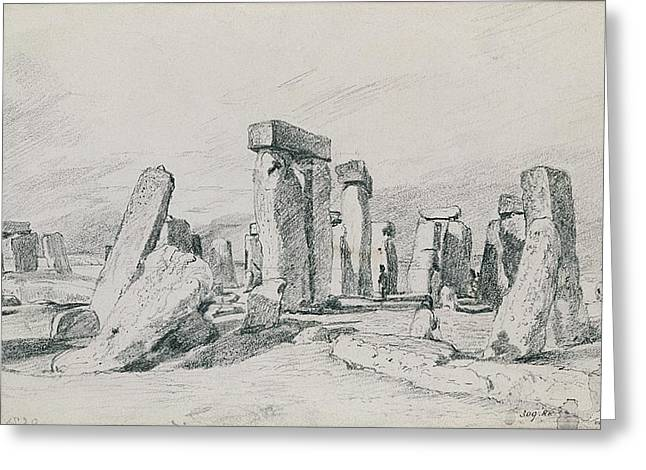 Stonehenge Wiltshire Greeting Card by John Constable