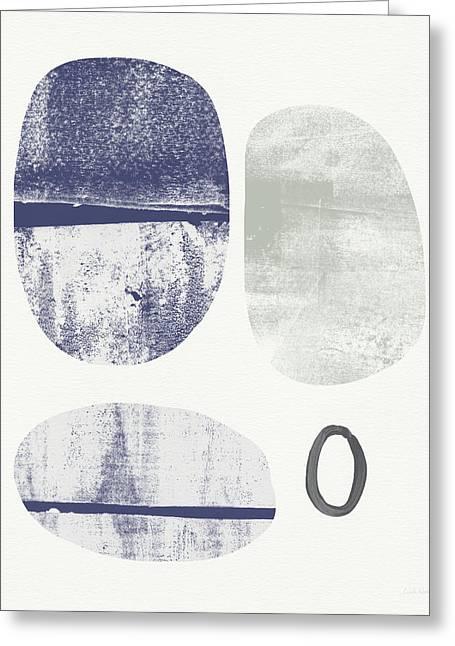 Stones 1- Art By Linda Woods Greeting Card by Linda Woods