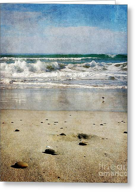 Beach Stones Greeting Cards - Stones Along the Shore Greeting Card by Laura Iverson