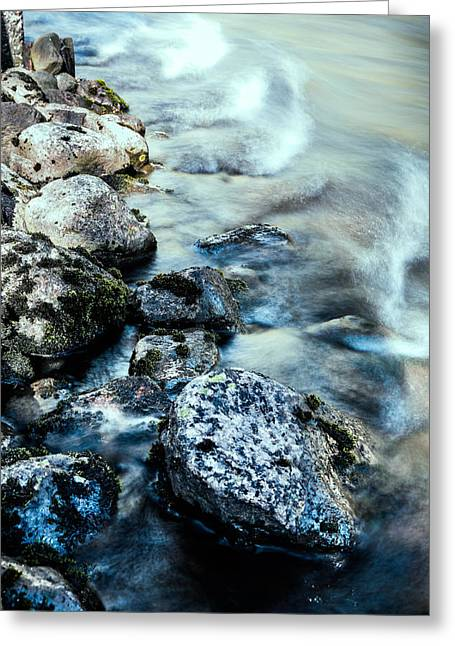 Therapy Greeting Cards - Stones in blue tone Greeting Card by Toppart Sweden