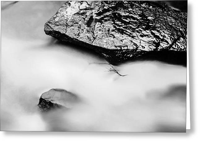 Clean Water Digital Art Greeting Cards - Stones in silky water Greeting Card by Toppart Sweden