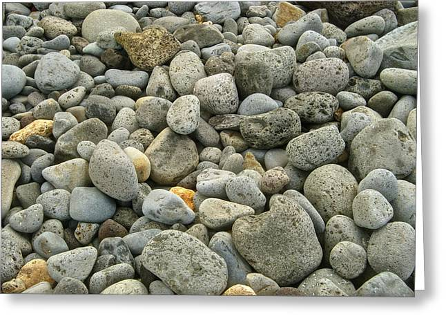 Abstract Beach Landscape Greeting Cards - Stones Greeting Card by Michael Peychich