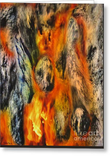 The Prayer - Stones On Fire 10 Greeting Card by Dov Lederberg