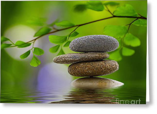 Stones Greeting Card by SK Pfphotography