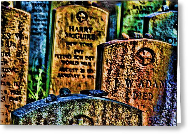 Wwi Greeting Cards - Stones Greeting Card by Vince Green
