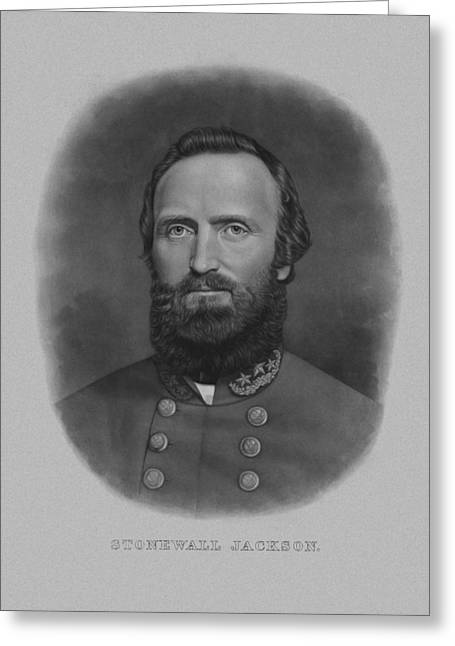 Products Greeting Cards - Stonewall Jackson Greeting Card by War Is Hell Store