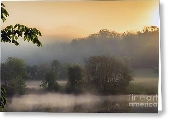 Man-made Lake Greeting Cards - Stonewall Lake Sunrise Greeting Card by Thomas R Fletcher