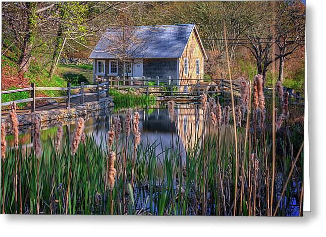 Stony Brook Grist Mill Greeting Card by Rick Berk