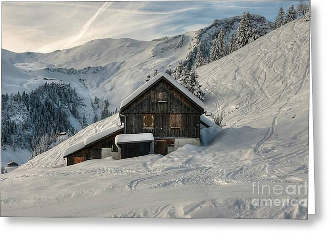 Caroline Pirskanen Greeting Cards - Stoos Switzerland Greeting Card by Caroline Pirskanen