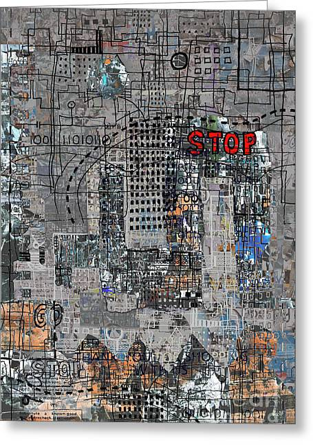 Urban Greeting Cards - Stop again Greeting Card by Andy  Mercer