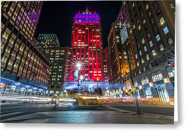 Long Street Greeting Cards - Stop On Red Greeting Card by James Venuti