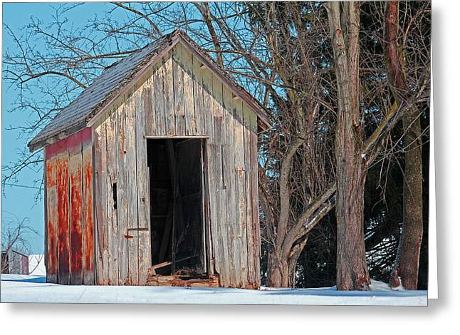 Shed Greeting Cards - Storage Shed Greeting Card by Stephanie Lindsay