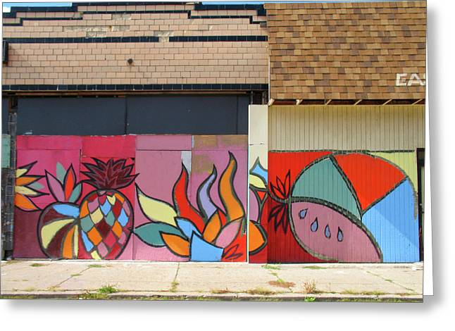 Store Front Art Greeting Card by David Kyte