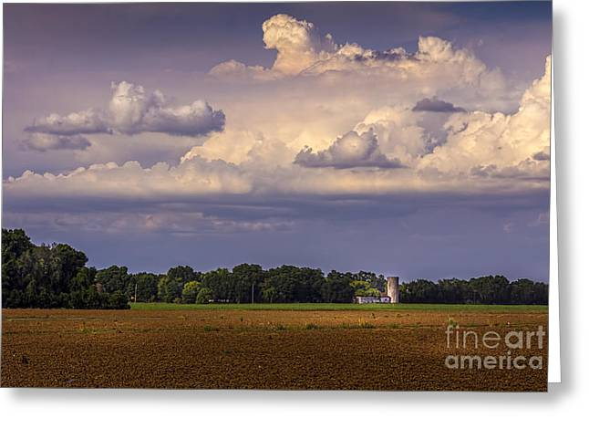Fence Line Greeting Cards - Storm A Coming Greeting Card by Marvin Spates