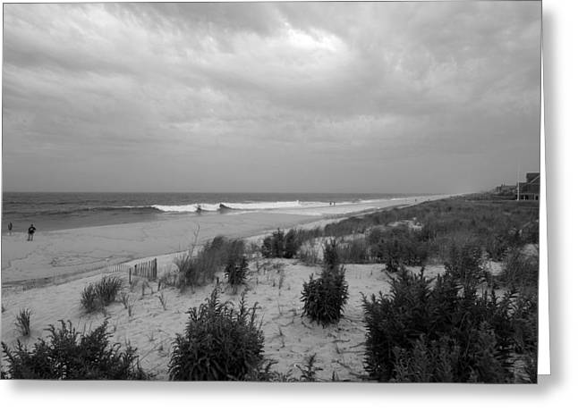 Storm Prints Greeting Cards - Storm Approaching - Jersey Shore Greeting Card by Angie Tirado