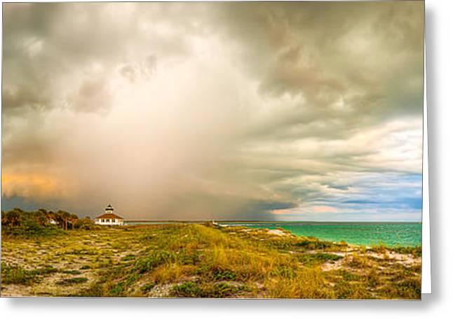 Storm Prints Digital Greeting Cards - Storm Approaching - Boca Grande, Florida Greeting Card by R Scott Duncan