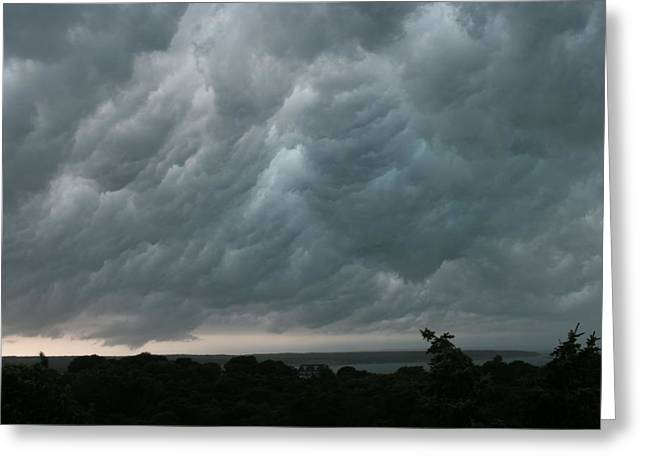 Thunderstorm Greeting Cards - Storm Approaching Montauk Greeting Card by Christopher Kirby
