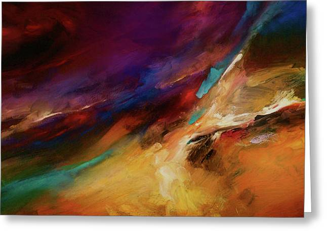 Storm At Sea Greeting Card by Michael Lang