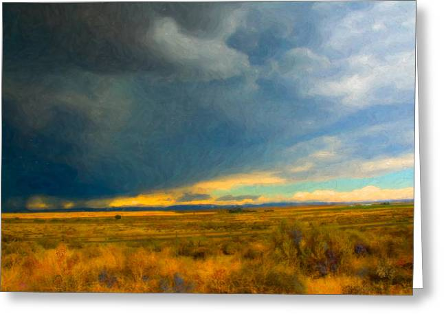 Storm Digital Greeting Cards - Storm  Greeting Card by Betty LaRue