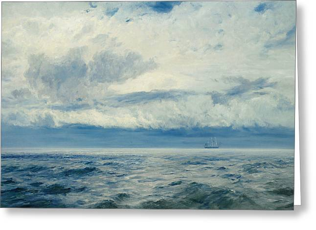 At Sea Greeting Cards - Storm Brewing Greeting Card by Henry Moore