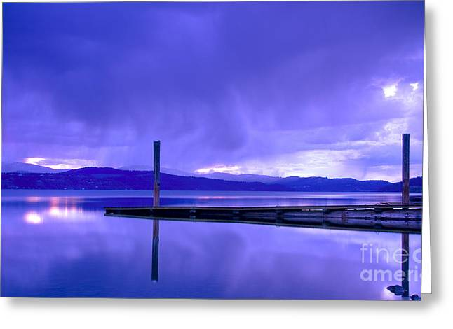 Storm Brewing Greeting Card by Idaho Scenic Images Linda Lantzy