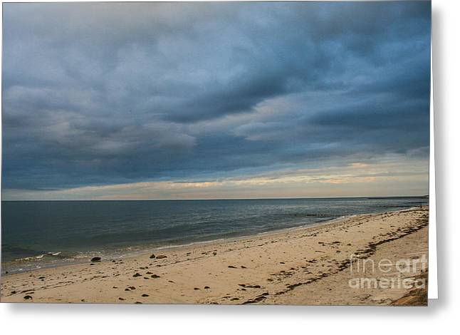 Storm Clouds Cape Cod Greeting Cards - Storm Clouds Greeting Card by Laura Ragosta