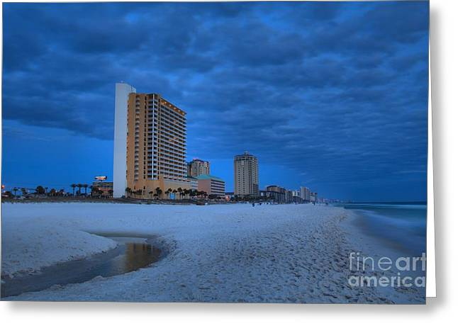 Panama City Beach Greeting Cards - Storm Clouds Over Panama City Greeting Card by Adam Jewell