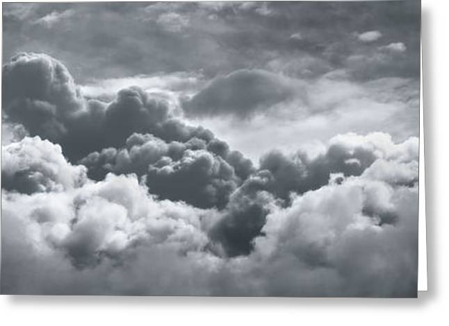 Storm Clouds Over Sheboygan Greeting Card by Scott Norris