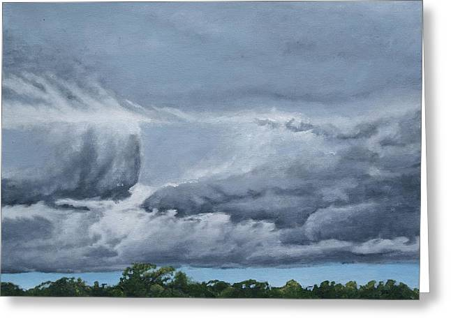 Storm Clouds Pastels Greeting Cards - Storm Clouds Greeting Card by Stephen Duffin