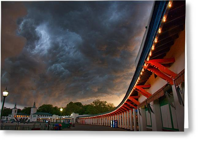 Rumble Greeting Cards - Storm Coming Greeting Card by June Marie Sobrito